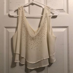 Rinestone dress crop top